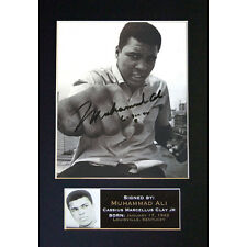 MUHAMMAD ALI Signed Mounted Autograph Photo Prints A4 30
