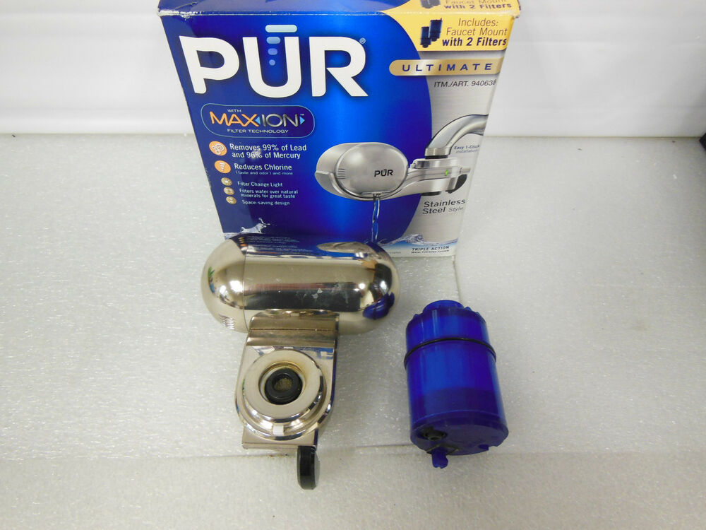 Pur Ultimate Stainless Steel Water Filter System 43713