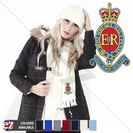 img-3 Royal Horse Artillery - Scarf - With Embroidered Badge