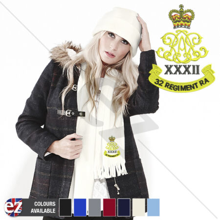 img-32nd Regiment Royal Artillery - Scarf - With Embroidered Badge