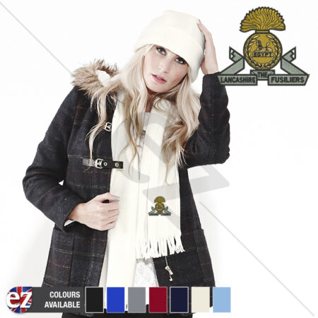 img-Lancashire Fusiliers - Scarf - With Embroidered Badge