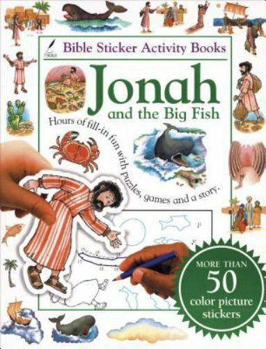 Bible sticker activity book jonah and the big fish bible for Big fish book