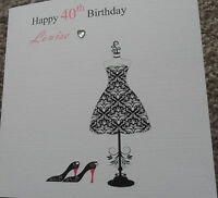 HANDMADE PERSONALISED BIRTHDAY CARD FRIEND GRANDMA MUM ETC 16TH 18TH 21ST 30TH