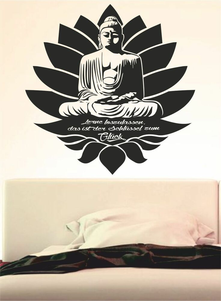buddha wandtattoo zitat spr che yoga gl ck terisch. Black Bedroom Furniture Sets. Home Design Ideas