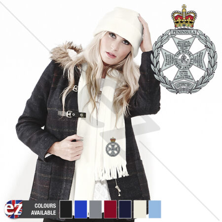 img-Royal Green Jackets - Scarf - With Embroidered Badge