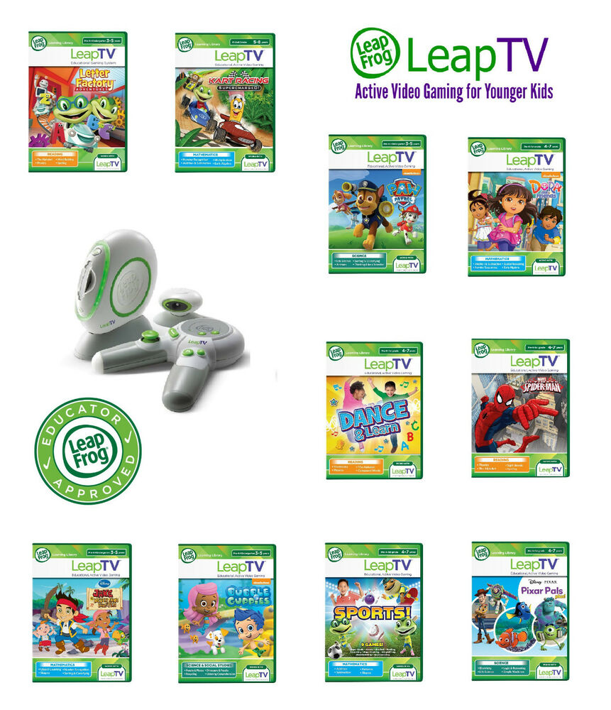 LeapFrog LeapTV Games Educational Software 3 to 8 years ...