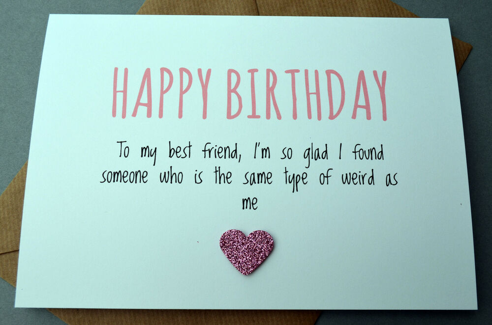 Details About Humourous Greetings Card Birthday Best Friends