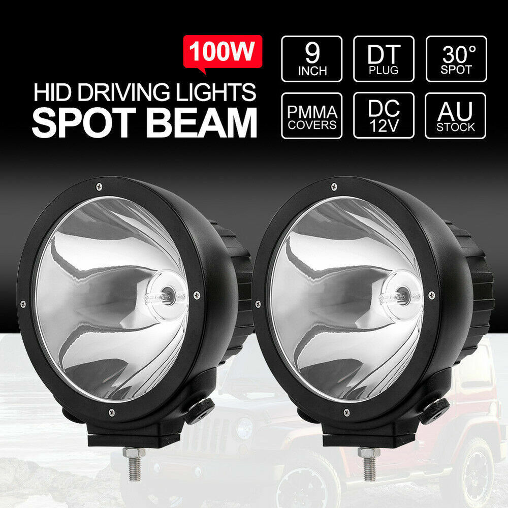 """Led Lights Vs Hid Lights For Cars: 9"""" Inch 200W HID Driving Lights Xenon Off Road Work"""