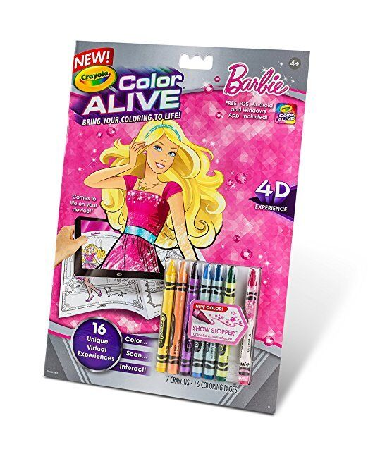 Crayola color alive barbie coloring book barbie toys for Crayola color alive action coloring pages mythical creatures