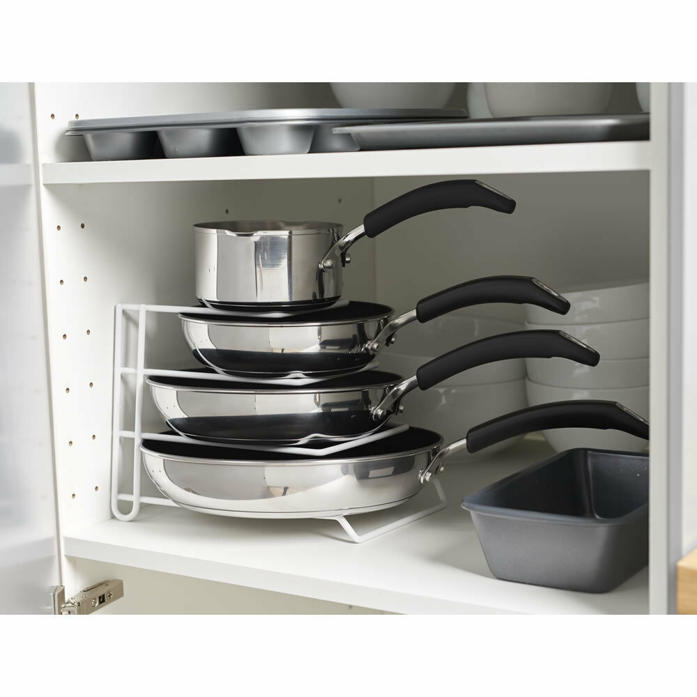 kitchen lid storage white pan pot lid rack stand holder kitchen cupboard 2139