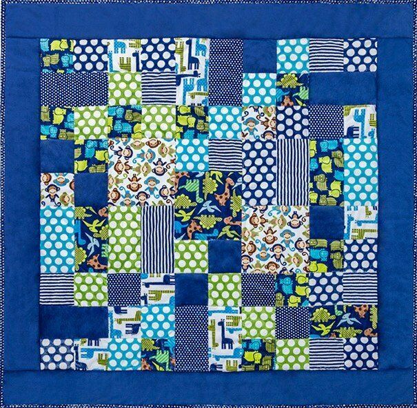 Kozy Cuts One Of The Boys Cuddle Quilt Kit 52 In X 52 In