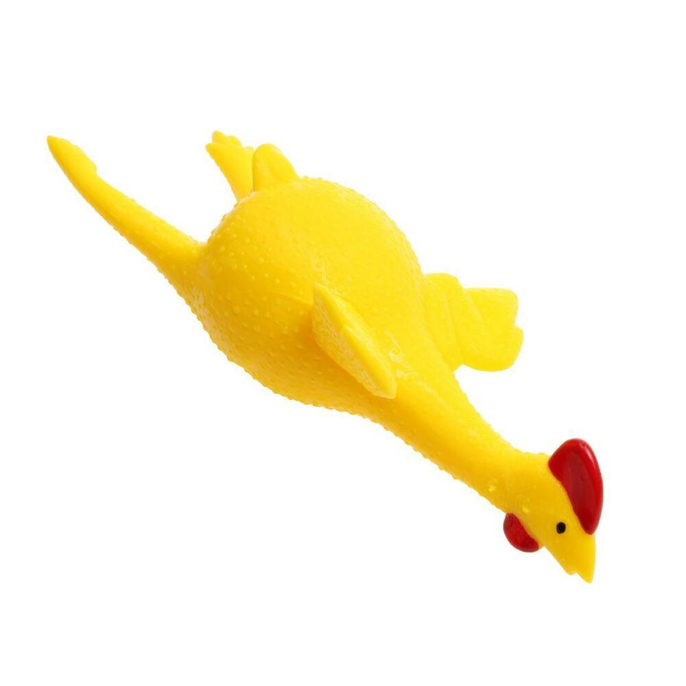 Squishy Rubber Toys : Yellow Soft Rubber Squeezing Laying Egg Chicken Trick Toy for Party Supplies eBay