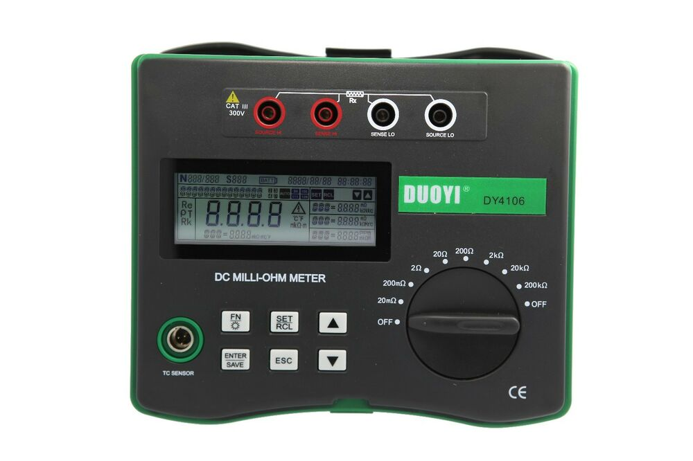 Milli Micro Ohmmeter Or Low Resistance Ohmmeter : Power cable low ohm test dy micro meter with