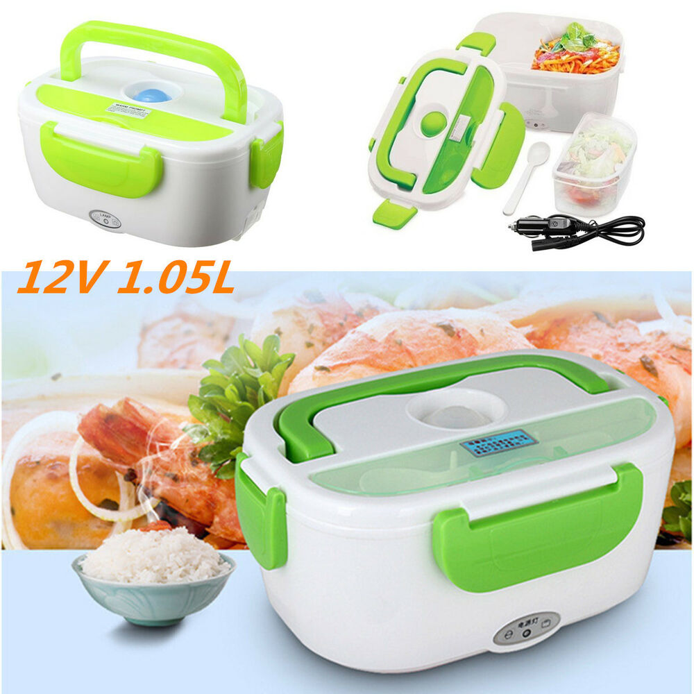 Portable Food Warmer Box ~ L portable car v electric heated lunch box heating