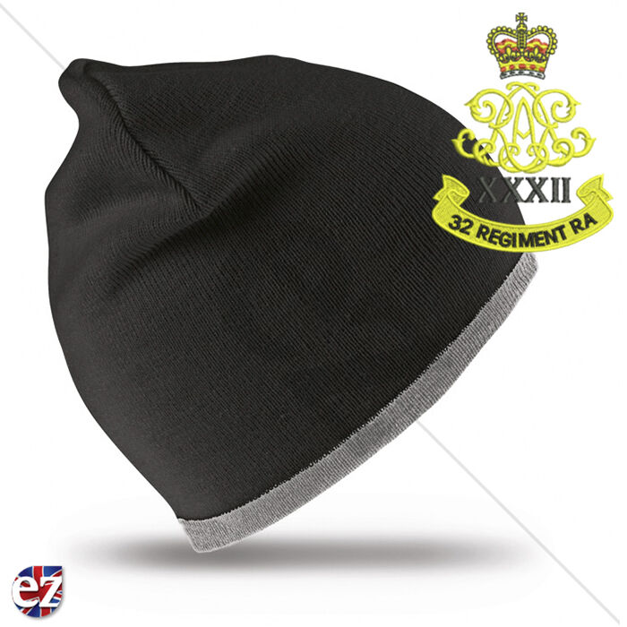 d84463abf16 Details about 32nd Regiment Royal Artillery - Beanie Hat with Embroidered  Badge