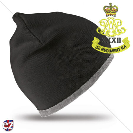 img-32nd Regiment Royal Artillery - Beanie Hat with Embroidered Badge