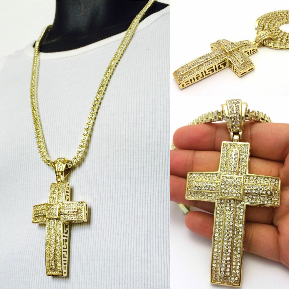 Gucci Sterling Silver Cross Necklace