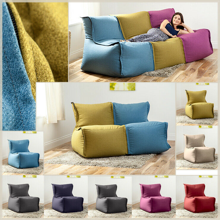Modular Sofa Beanbag Lounger Bean Bag Couch Seating Kids