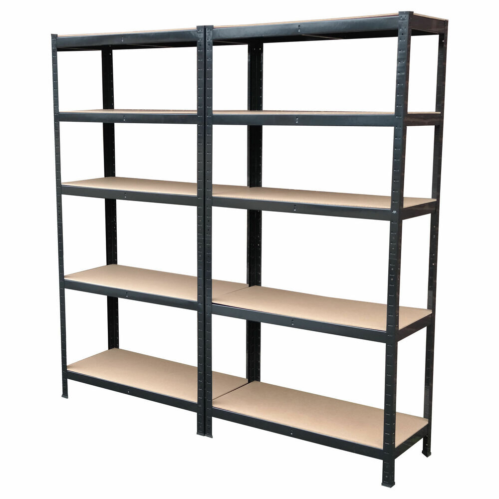 steel storage shelves 4 x heavy duty boltless shelving rack 5 tier home 26782