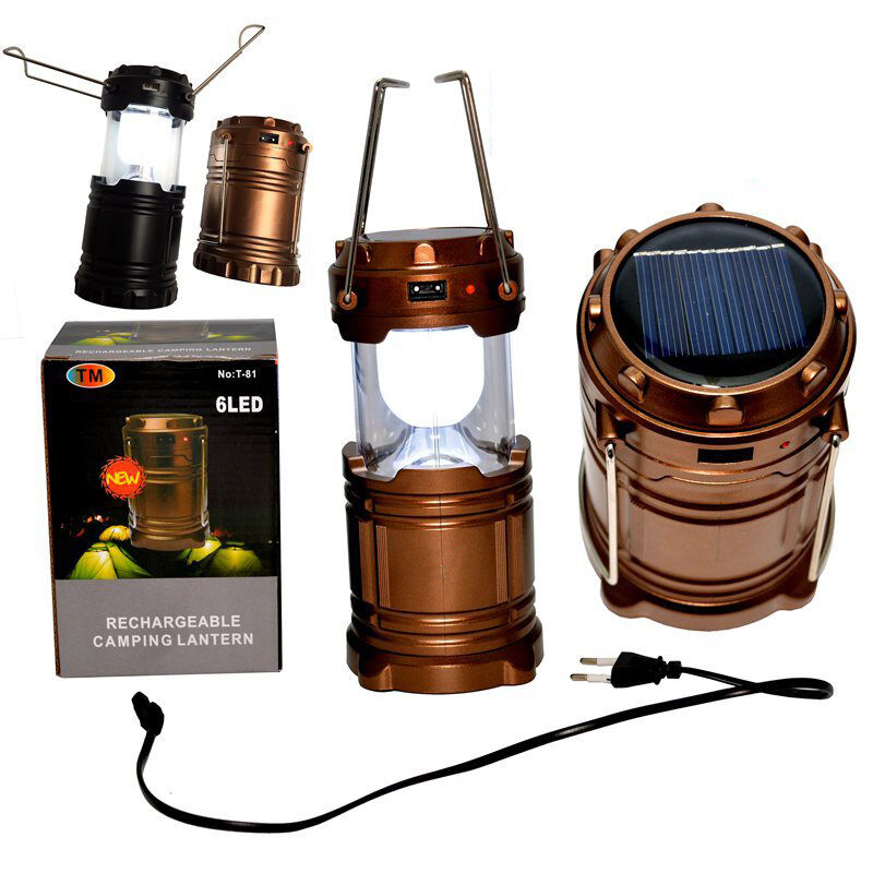 Camping Outdoor Solar/USB Recharge Light LED Portable Tent ...