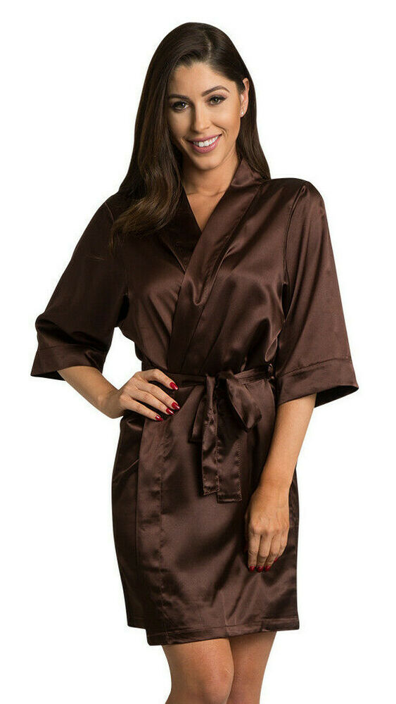 Details about Chocolate Brown Satin Robe Luxury Silky Satin Robe Robes Satin   32.99 DEAL f705ea3f5