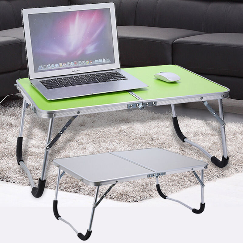 Portable folding picnic camping table laptop desk stand pc for Pc bed table