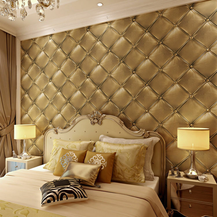 3d embossed leather style luxury home decor wallpaper roll for Home wallpaper ebay