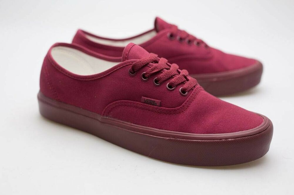 Vans Men Authentic Lite Mono burgundy cordovan 0Z5JLQI | eBay