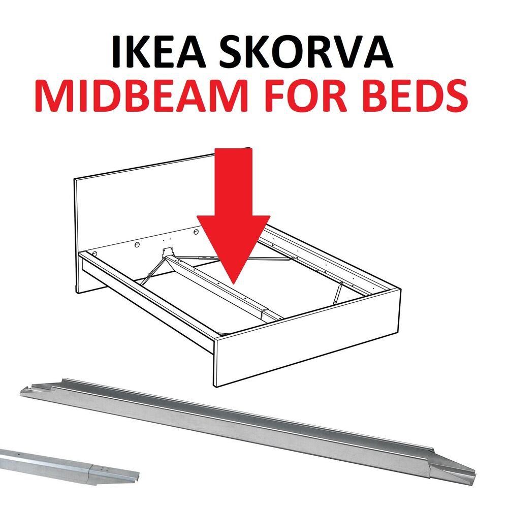 ikea skorva bed midbeam central support galvanised