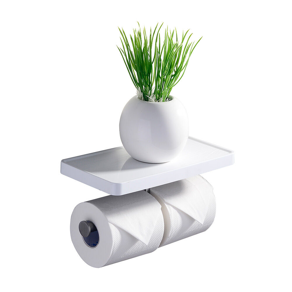 Crw Bathroom Double Toilet Tissue Paper Roll Holder With