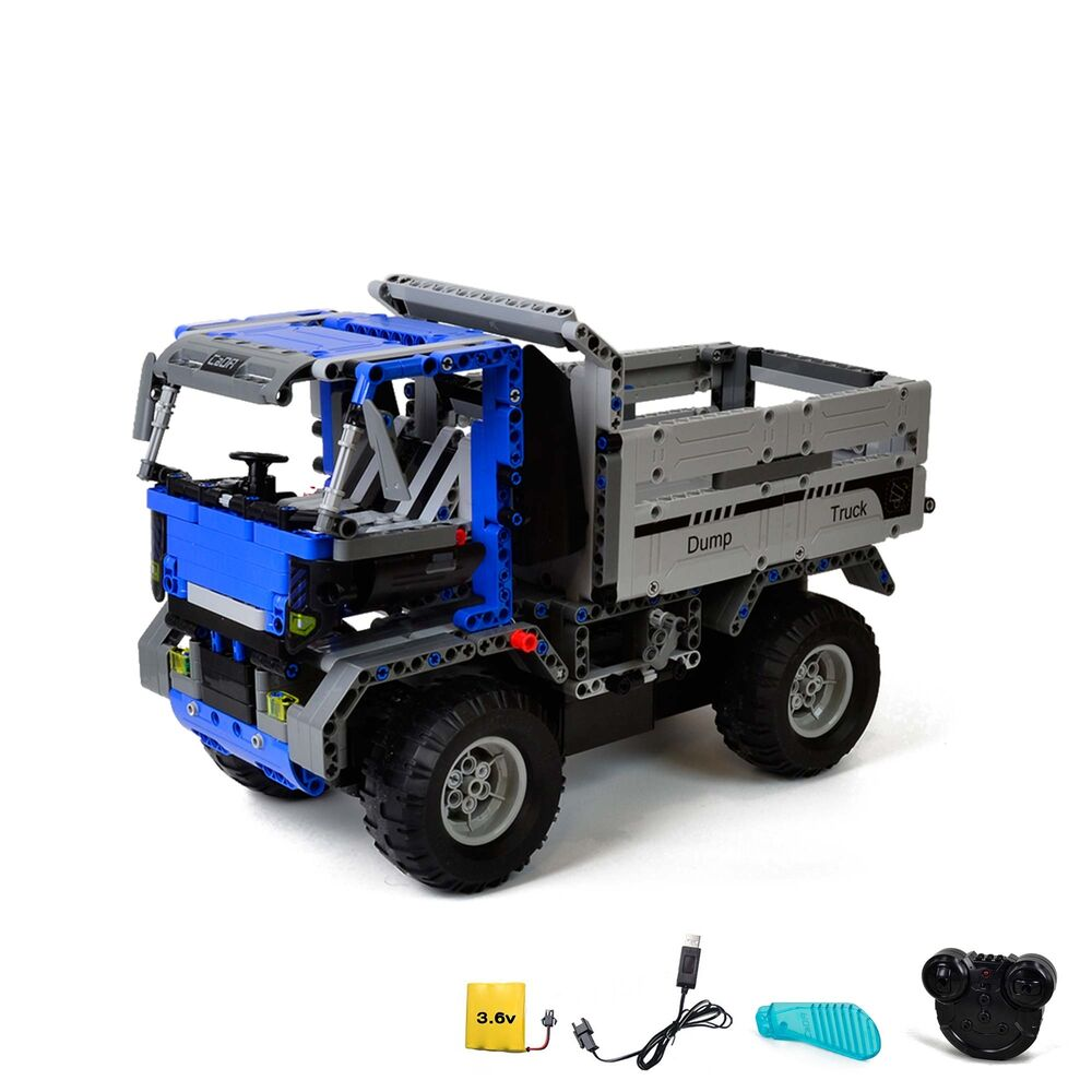 rc ferngesteuerter lkw kipper truck aus bausteinen mit. Black Bedroom Furniture Sets. Home Design Ideas