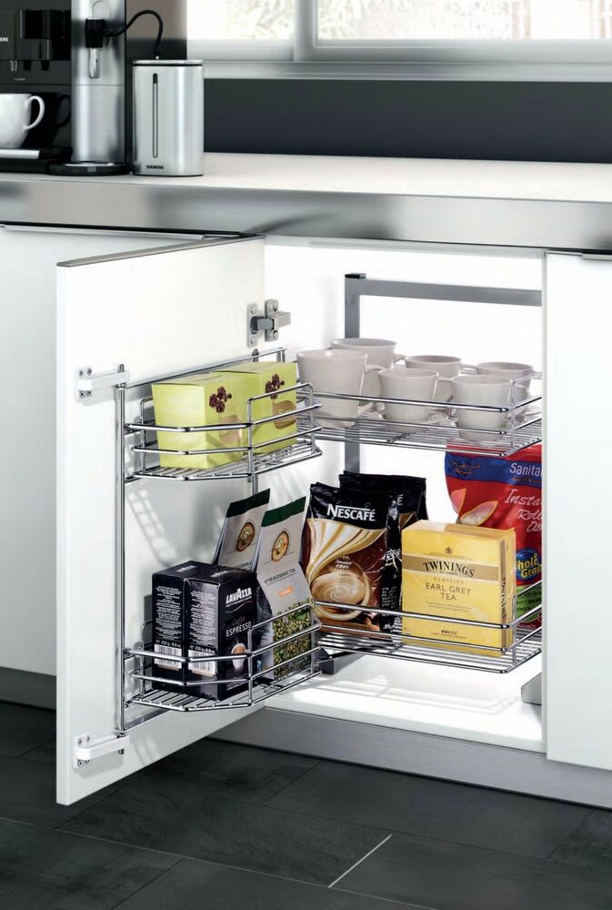 Under Counter Cabinet Pullout Pantry 4 Shelves Organizer