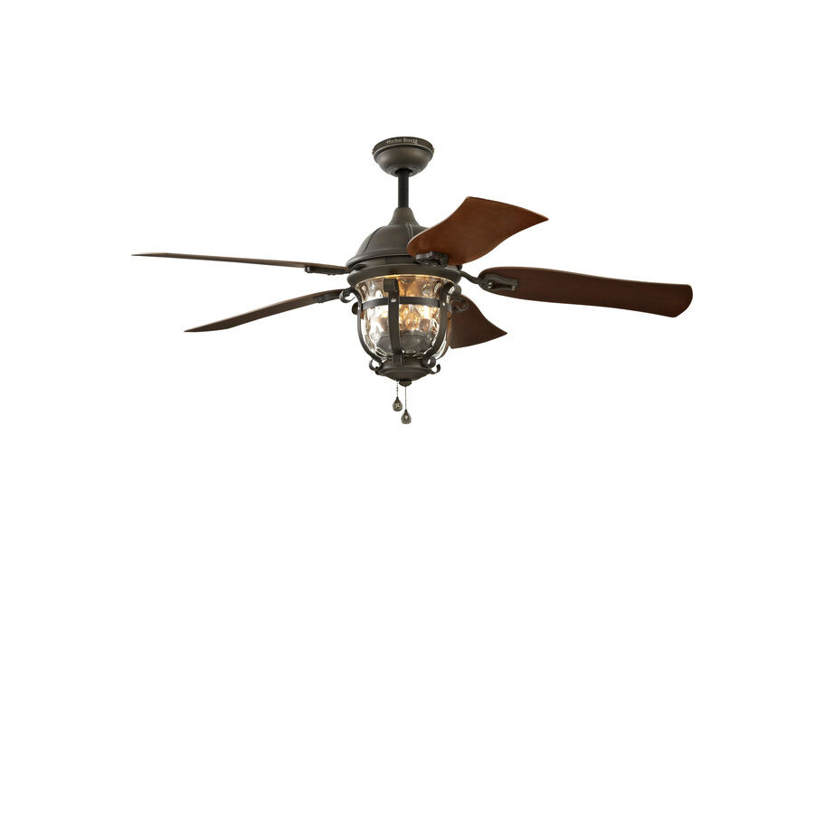 Ceiling Fans Mount: 52-in Aged Iron Outdoor Downrod Or Flush Mount Ceiling Fan