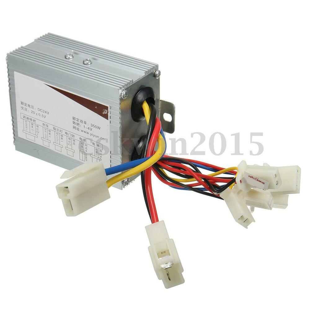 24v 350w motor brush speed controller for electric bike for 24v dc motor driver
