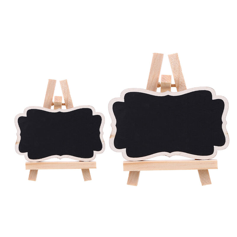 8x Rectangle Easel Stand Mini Wooden Wedding Blackboard