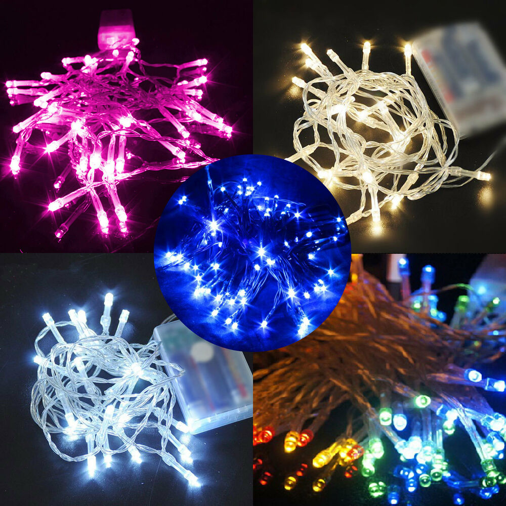 Battery Operated String Xmas Lights : 4M 40 LEDs Battery Operated Mini LED Xmas Copper Wire String Fairy Party Lights eBay