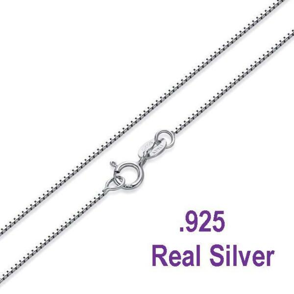 .925 Sterling Silver .8mm Box Chain Necklace for Pendants -- *Wholesale Prices*