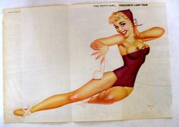 1950s Esquire Magazine Centerfold Pin Up The Petty Girl