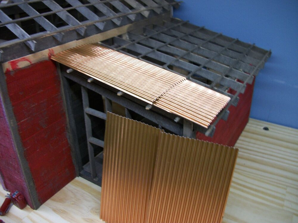 Corrugated Roofing Accessories : Corrugated copper roofing g o scale model
