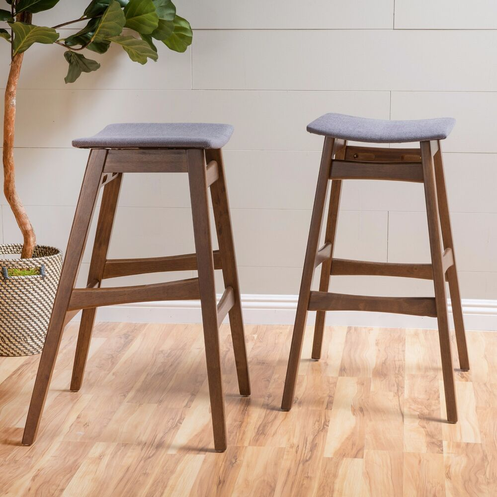 Set Of 2 Oster Mid Century Design Bar Stools Ebay