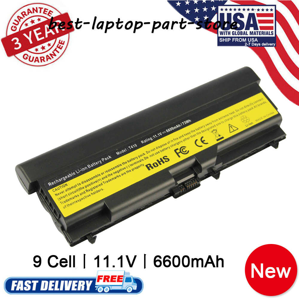 Battery For Lenovo Thinkpad T410 T420 T520 W520 Sl410