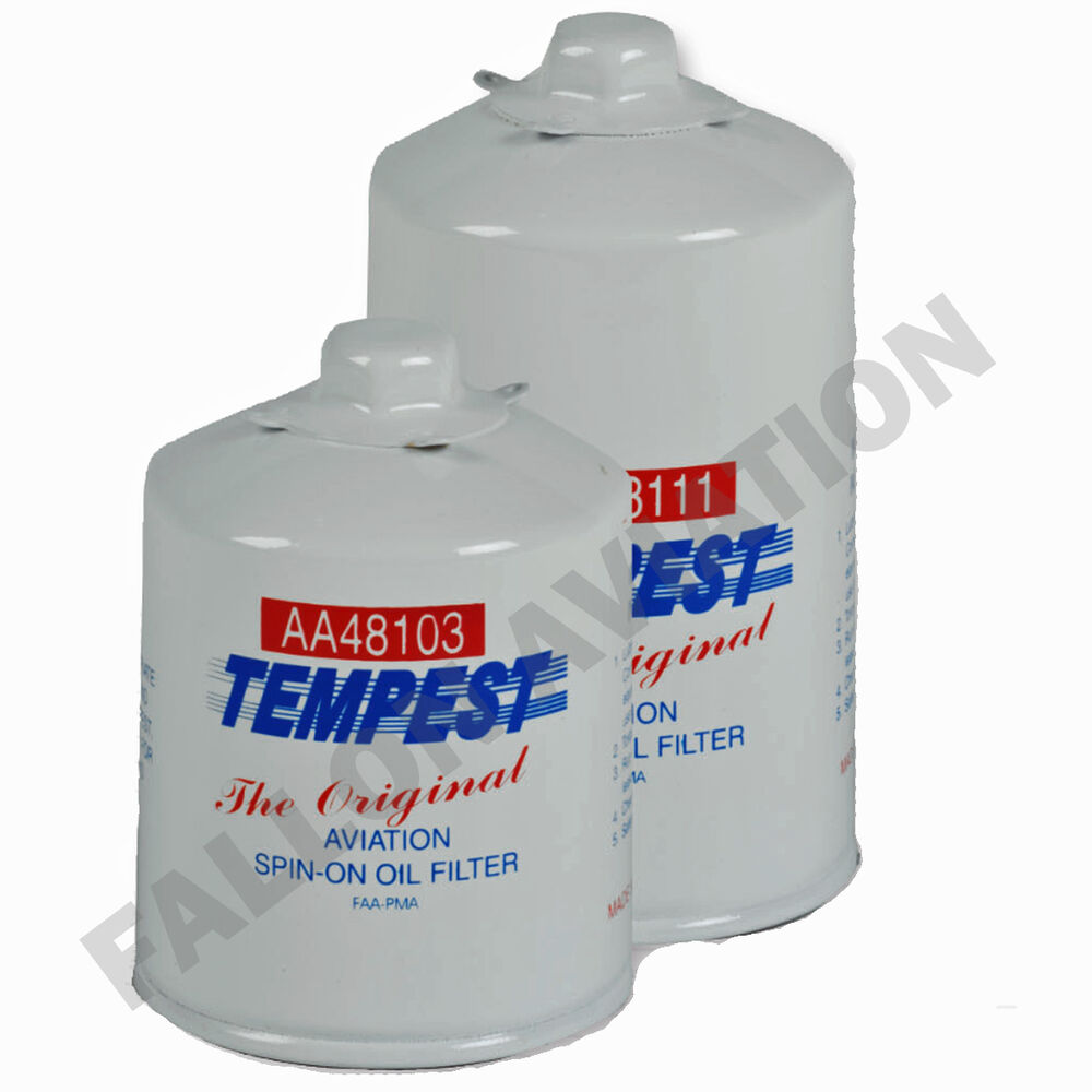 tempest aircraft oil filter aa48110 2 aviation spin on. Black Bedroom Furniture Sets. Home Design Ideas