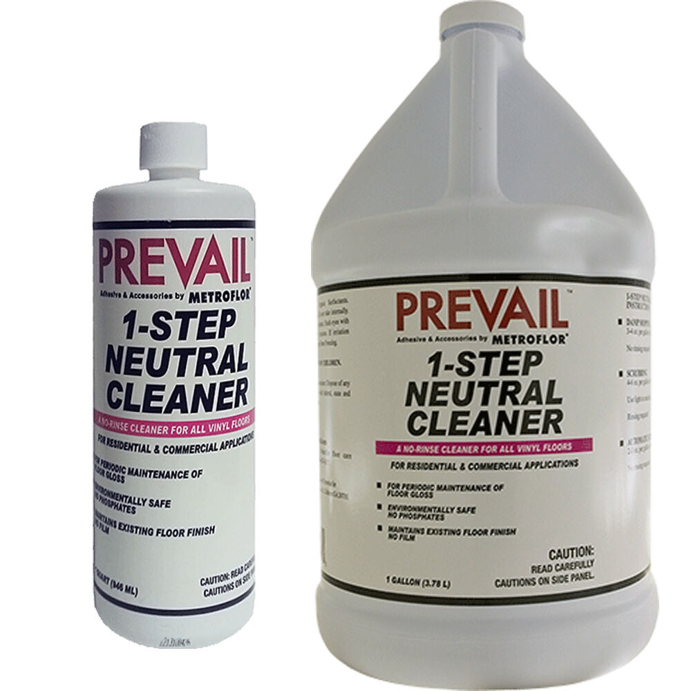 Prevail 1 Step Neutral Cleaner Concentrates Quart Or