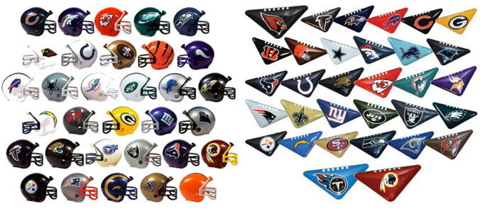 MINI NFL HELMETS AND TABLETOP FOOTBALL FLICKERS, FULL SETS OF 32 TEAMS 64 ITEMS  eBay