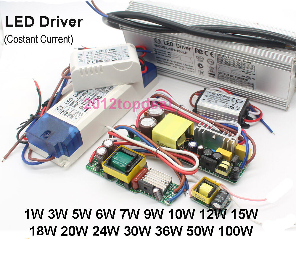50w Led Power Supply: Constant Current LED Driver 1W 3W 5W 10W 20W 30W 50W 100W