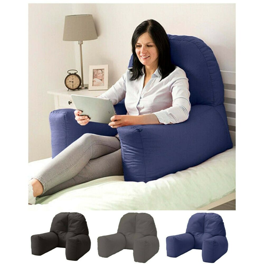 Chloe Bed Reading Bean Bag Cushion Arm Rest Back Support