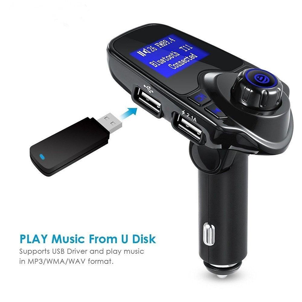 bluetooth car kit mp3 player fm transmitter wireless radio. Black Bedroom Furniture Sets. Home Design Ideas