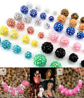 180pcs Basketball Wives Earring Poparazzi Crystal Rhinestone Spacer Beads DIY