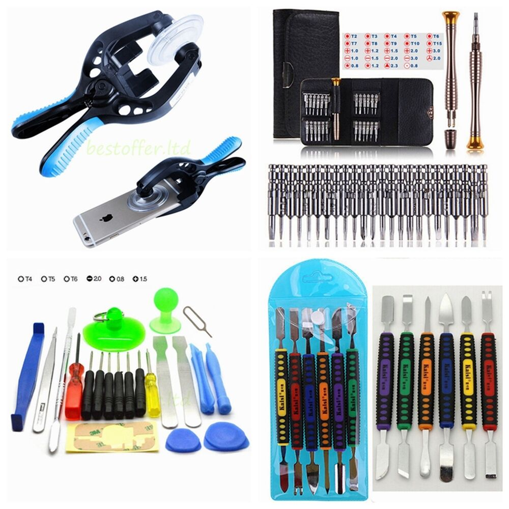 mobile repair opening tools kit set pry screwdriver for cell phone iphone usa ebay. Black Bedroom Furniture Sets. Home Design Ideas