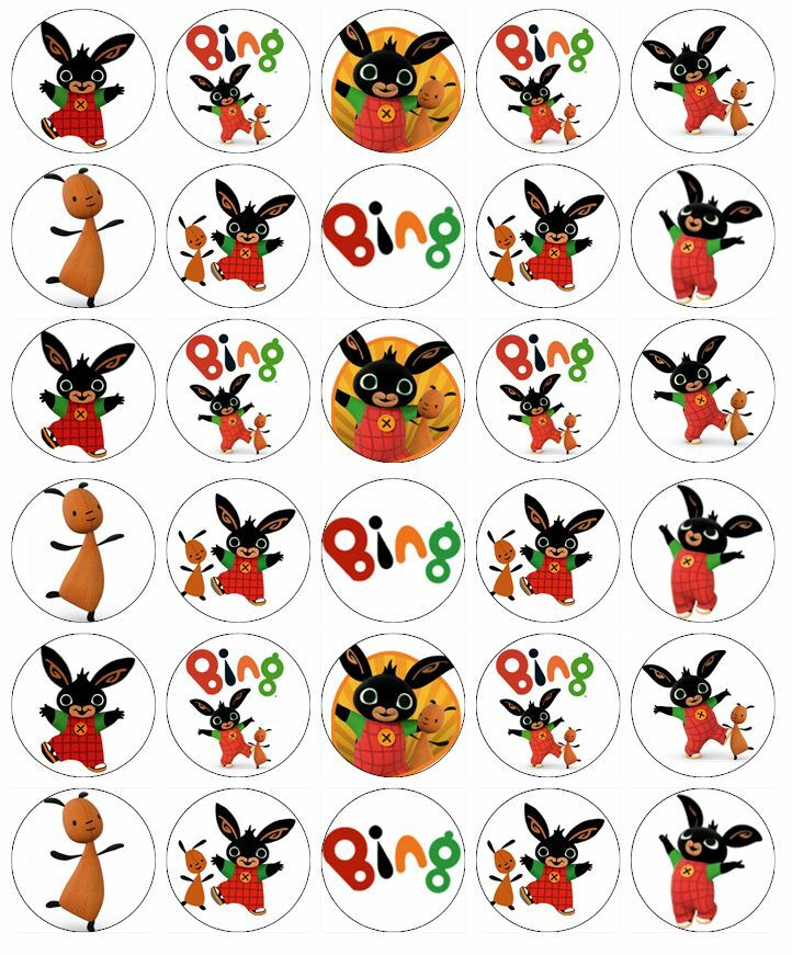 25 30 Go To Www Bing Com: 30x Bing Cbeebies Cupcake Toppers Edible Wafer Paper Fairy